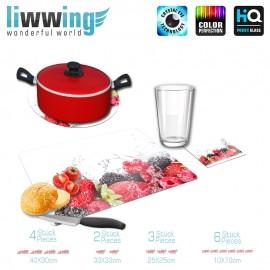 Küchenset komplett no. 3949 | Kulinarisches Erdbeeren, Himbeeren, Brombeere, Johannisbeeren natural | liwwing (R)