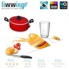 Küchenset komplett no. 4210 | Kulinarisches Saft, Spritzer, Tropfen, Orange, Apfel natural | liwwing (R)