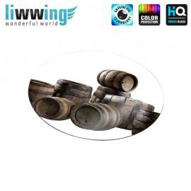 Glas-Topfuntersetzer Set no. 3596 | Sonstiges Holzfässer, Wooden barrels natural | liwwing (R)
