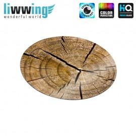 Glas-Topfuntersetzer Set no. 3597 | Holz Altes Holz, Old wood natural | liwwing (R)