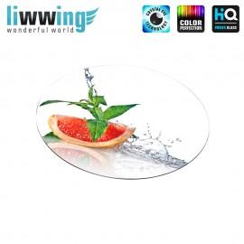 Glas-Topfuntersetzer Set no. 3599 | Speisen Grapefruit, Wasser, Minze, Water, Mint natural | liwwing (R)
