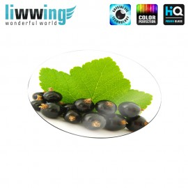 Glas-Topfuntersetzer Set no. 3586 | Pflanzen Johannisbeeren, Blatt, Currants natural | liwwing (R)