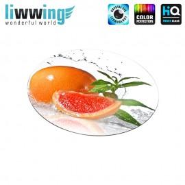 Glas-Topfuntersetzer Set no. 3606 | Speisen Grapefruit, Wasser, Minze, Water, Mint orange | liwwing (R)