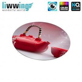 Glas-Topfuntersetzer Set no. 3588 | Kulinarisches Chinesische Teekanne, Chinese Teapot natural | liwwing (R)