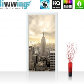 "Tür Fototapete ""Manhattan Skyline View"" 