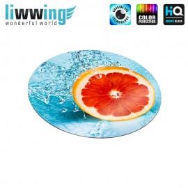 Glas-Topfuntersetzer Set no. 3608 | Speisen Grapefruit, Wasser, Water blau | liwwing (R)