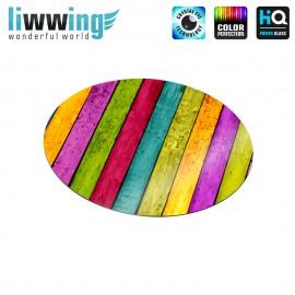 Glas-Topfuntersetzer Set no. 3589 | Holz Buntes Holz, Colorful wood natural | liwwing (R)