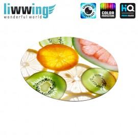 Glas-Topfuntersetzer Set no. 3609 | Speisen Zitrus, Früchte, Kiwi, Citrus, Fruits natural | liwwing (R)