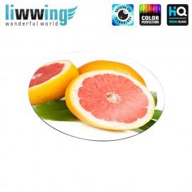 Glas-Topfuntersetzer Set no. 3610 | Speisen Grapefruit, Grüne Blätter, Green Leaves natural | liwwing (R)