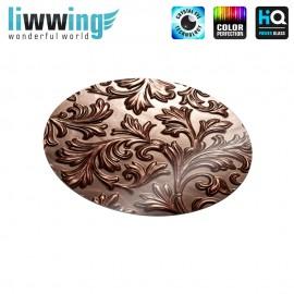 Glas-Topfuntersetzer Set no. 3611 | Illustrationen Schokolade, Chocolate, Blätter braun | liwwing (R)