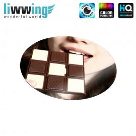 Glas-Topfuntersetzer Set no. 3592 | Speisen Schokolade, Chocolate natural | liwwing (R)