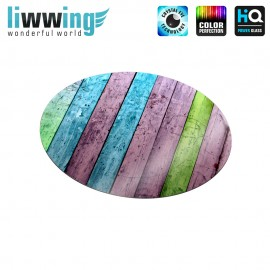 Glas-Topfuntersetzer Set no. 3593 | Holz Buntes Holz, Colorful wood bunt | liwwing (R)