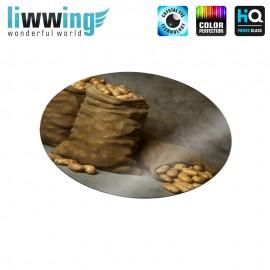 Glas-Topfuntersetzer Set no. 3594 | Speisen Jute Säcke, Kartoffeln, Bags, Potatoes braun | liwwing (R)