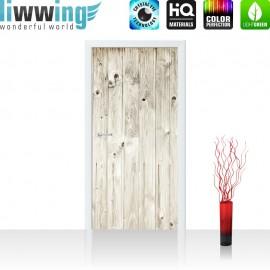 "Tür Fototapete ""weathered wood plank"" | 100x211 cm | Holzoptik Holzwand, Holzpaneel, weißes Holz | liwwing (R)"