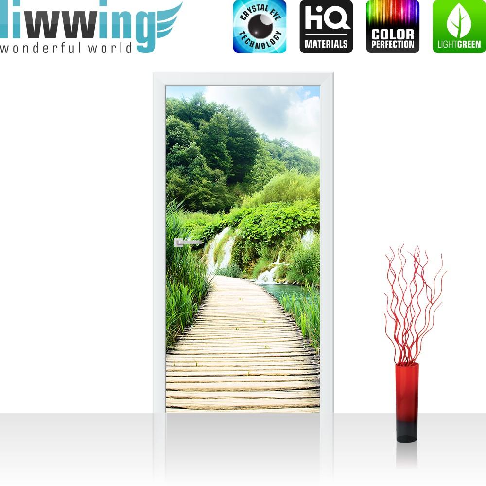 """Wunderbar Wandtattoo Gras Referenz Von Liwwing (r) Marken Vlies Tür Fototapete """"wood"""