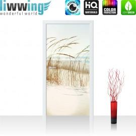 "Tür Fototapete ""no. 148"" | 100x211 cm | Strand Meer Nordsee Ostsee Beach Wasser Blau Himmel Sonne | liwwing (R)"