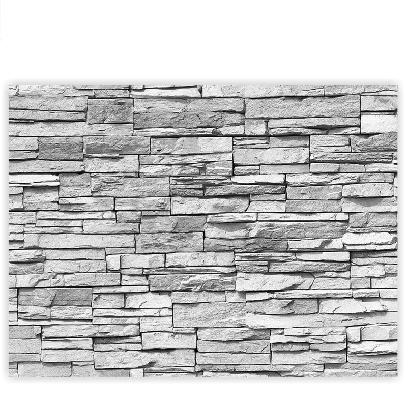 liwwing r marken leinwandbild asian stone wall grau classic 4 3 steinoptik steinwand. Black Bedroom Furniture Sets. Home Design Ideas