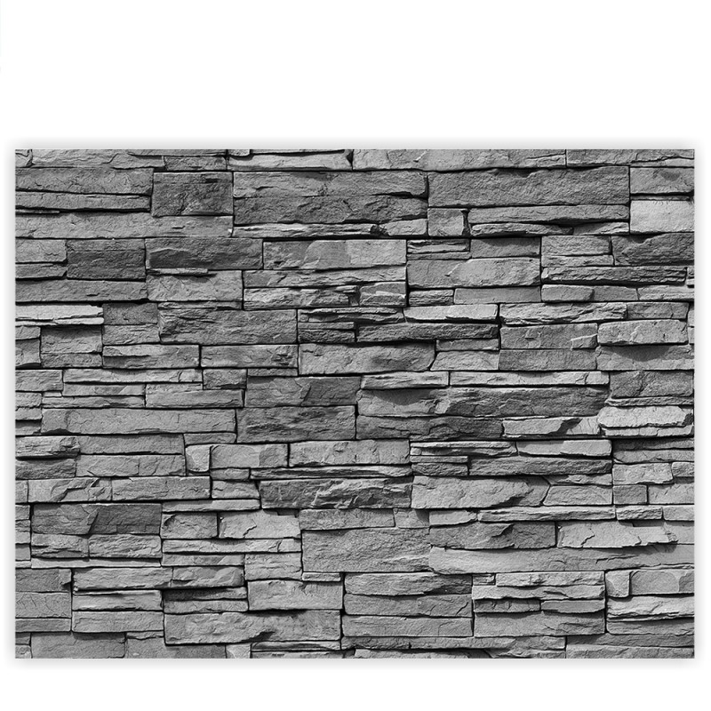 Liwwing r marken leinwandbild asian stone wall - Steinwand anthrazit ...
