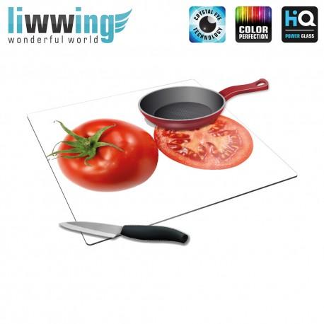 Herdabdeck- / Schneideplatte no. 4247   Kulinarisches Tomate, Anschnitt rot   liwwing (R)