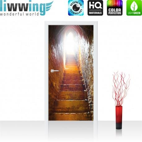 Tür Fototapete ''no. 4274'' | 91x211cm | Natur Treppen, Treppe, Steine, Stufen, Steintreppe, Alt | liwwing (R)
