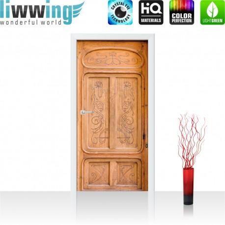 Tür Fototapete ''no. 4276''   91x211cm   Sonstiges Tür, Holz, Muster, Struktur   liwwing (R)