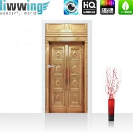 Tür Fototapete ''no. 4291'' | 91x211cm | Sonstiges Aufzug, Lift, Fahrstuhl, Tür, Alt, Messing | liwwing (R)
