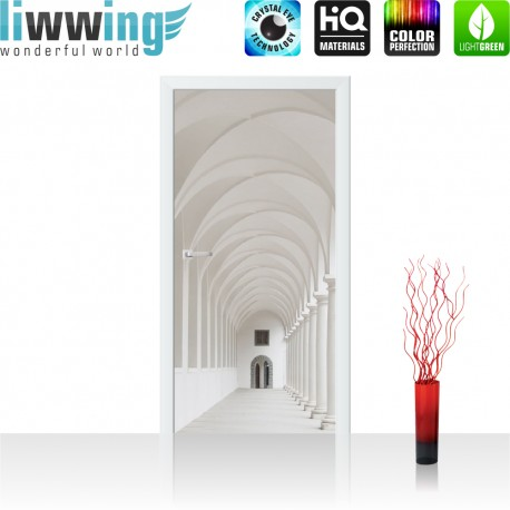 Tür Fototapete ''no. 4298'' | 91x211cm | Sonstiges Architektur, Gewölbe, Säulen, Arkade| liwwing (R)
