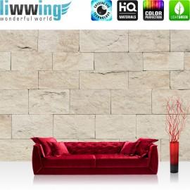 Vlies Fototapete no. 4300 | Steinwand Tapete Steinoptik Sandstein Steine Wand 3D Steintapete beige | by liwwing (R)