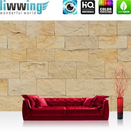 Vlies Fototapete no. 4301 | Steinwand Tapete Steinoptik Sandstein Steine Wand 3D Steintapete beige | by liwwing (R)