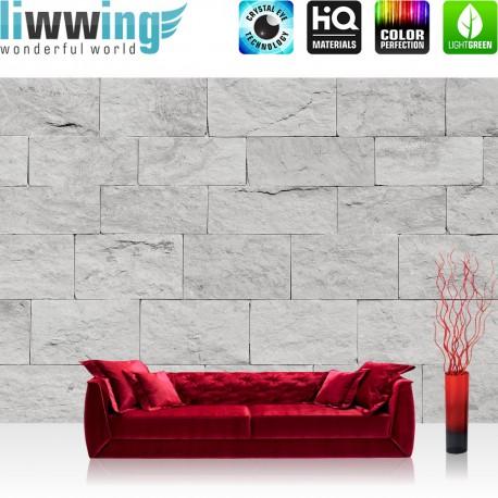Vlies Fototapete no. 4302 | Steinwand Tapete Steinoptik Sandstein Steine Wand 3D Steintapete grau | by liwwing (R)