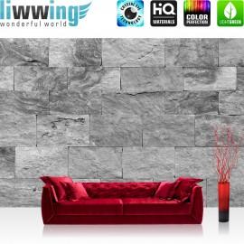 Vlies Fototapete no. 4303 | Steinwand Tapete Steinoptik Sandstein Steine Wand 3D Steintapete anthrazit | by liwwing (R)