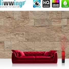 Vlies Fototapete no. 4304 | Steinwand Tapete Steinoptik Sandstein Steine Wand 3D Steintapete braun | by liwwing (R)