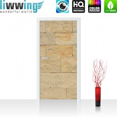 Tür Fototapete ''no. 4301'' | 91x211cm | Steinwand Tapete Steinoptik Sandstein Steine Wand 3D Steintapete | by liwwing (R)