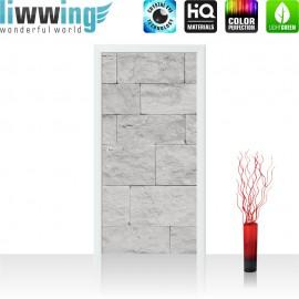 Tür Fototapete ''no. 4302'' | 91x211cm | Steinwand Tapete Steinoptik Sandstein Steine Wand 3D Steintapete | by liwwing (R)