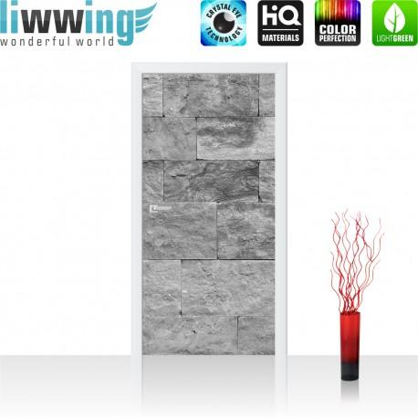 Tür Fototapete ''no. 4303' | 91x211cm | Steinwand Tapete Steinoptik Sandstein Steine Wand 3D Steintapete | by liwwing (R)