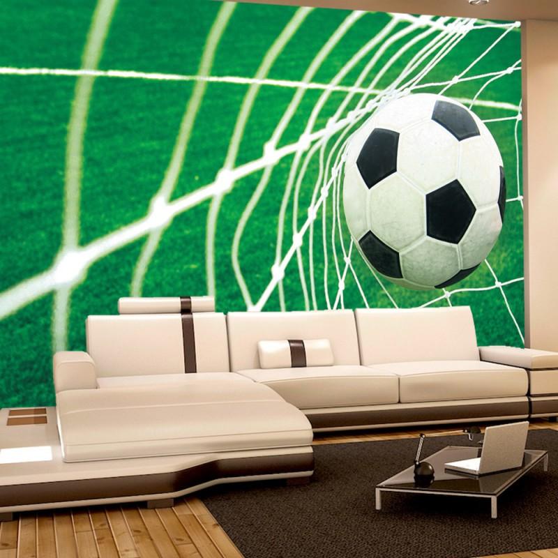 vlies fototapete no 272 fu ball tapete fussball netz. Black Bedroom Furniture Sets. Home Design Ideas