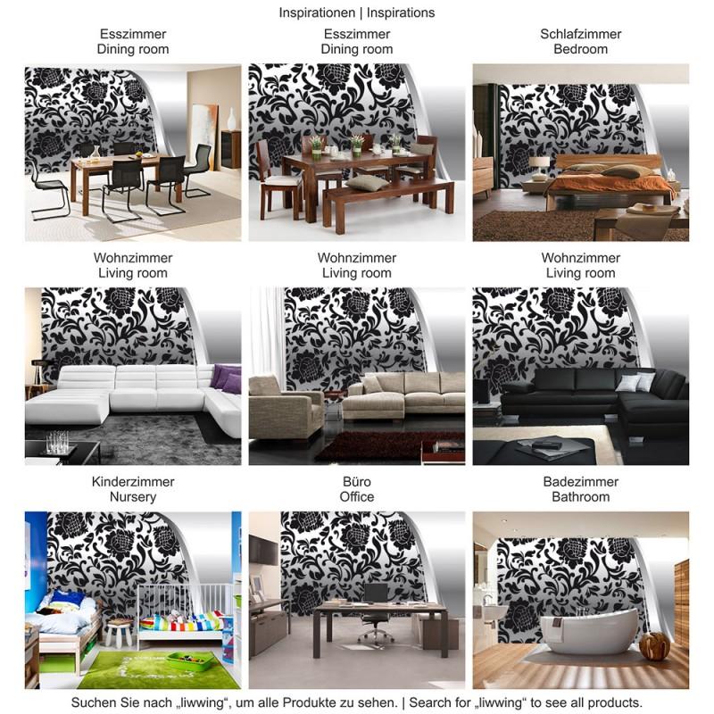 wohnzimmer tapeten schwarz weis dekoration inspiration