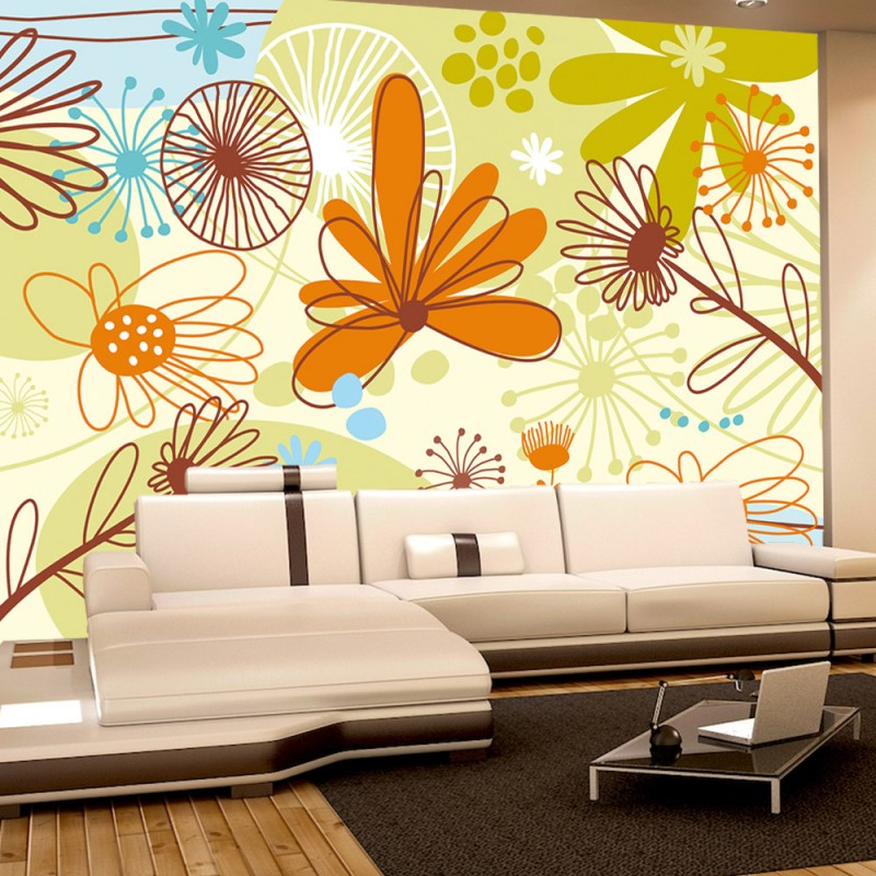 vlies fototapete no 278 ornamente tapete blumen bunt natur sommer bunt. Black Bedroom Furniture Sets. Home Design Ideas