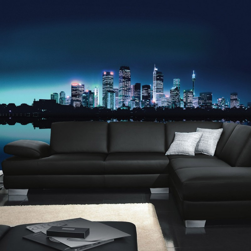 vlies fototapete no 280 skylines tapete toronto night. Black Bedroom Furniture Sets. Home Design Ideas
