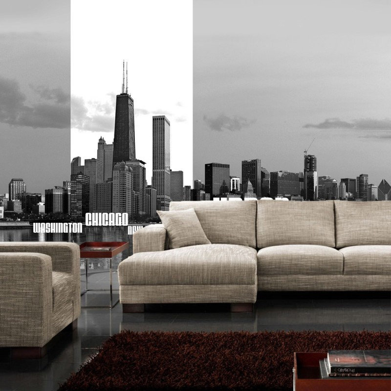 vlies fototapete no 281 new york tapete chicago las. Black Bedroom Furniture Sets. Home Design Ideas