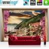 Vlies Fototapete no. 4545 | Städte & Länder Tapete Balkon Häuser Gebäude Blumen Meer natural | liwwing (R)