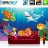 Vlies Fototapete no. 4531 | Kinder & Jugend Tapete Ozean Wasser Märchen Fisch Schildkröte Hai bunt | liwwing (R)