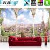 Vlies Fototapete no. 4533   Städte & Länder Tapete Paris Eiffelturm Bogen Aussicht Häuser Gebäude natural   liwwing (R)