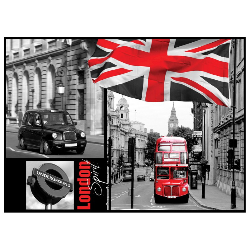 vlies fototapete no 286 london tapete london bus flagge rot schrift schwarz wei. Black Bedroom Furniture Sets. Home Design Ideas