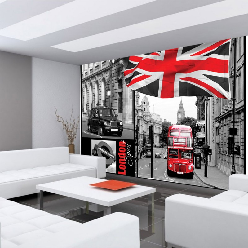 vlies fototapete no 286 london tapete london bus. Black Bedroom Furniture Sets. Home Design Ideas