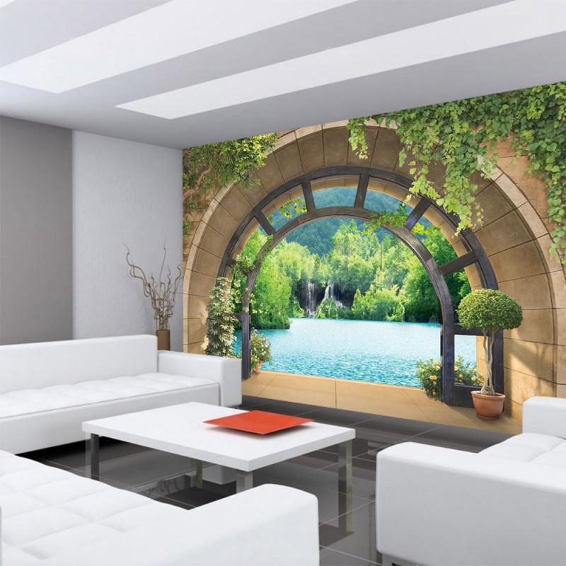 vlies fototapete no 4562 natur tapete ausblick fenster. Black Bedroom Furniture Sets. Home Design Ideas