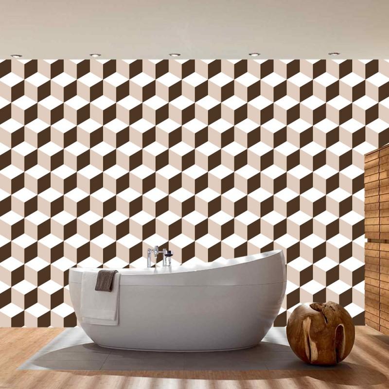 Wand Muster fototapete no 4345 gemälde kunstwerke tapete geometrie 3d wand