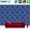 Vlies Fototapete no. 4347 | Kunst Tapete Illustration Mosaik Kaleidoskop blau lila | liwwing (R)