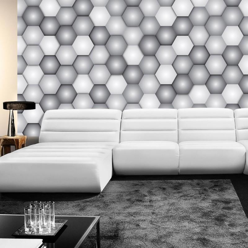 vlies fototapete no 4310 gem lde kunstwerke tapete abstraktion mosaik kugeln sechseck. Black Bedroom Furniture Sets. Home Design Ideas