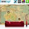 Vlies Fototapete no. 4315   Städte & Länder Tapete Landkarte Welt Kontinent Vintage Globus blau   liwwing (R)